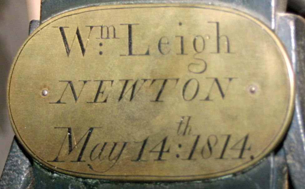 William Leigh's name plates record the date of installation