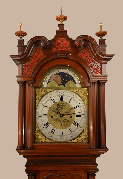 William Leigh longcase dial and hood